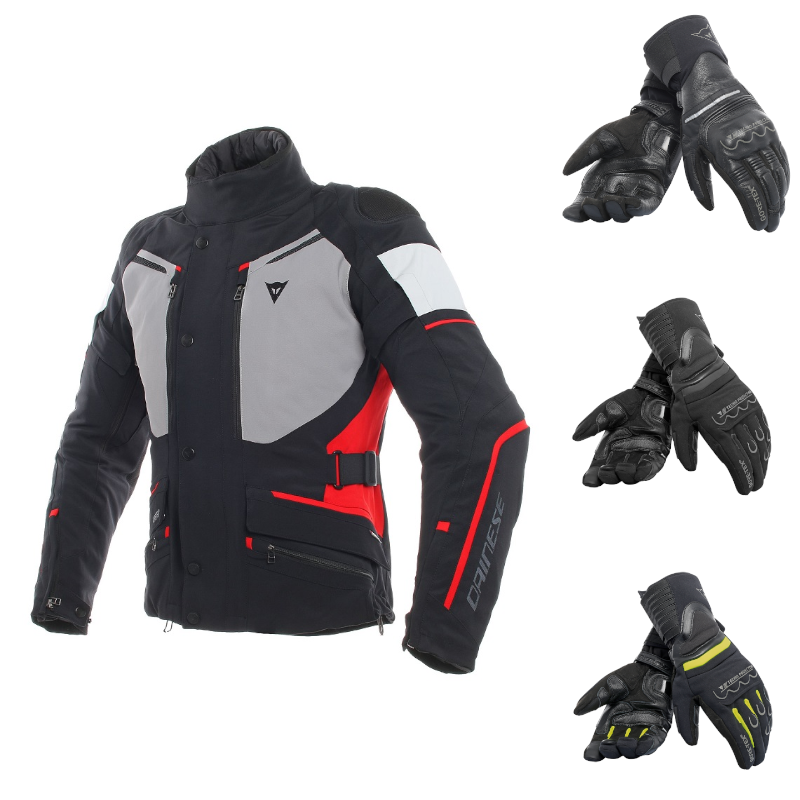 DAINESE CARVE MASTER 2 RED FREE GLOVE BUNDLE