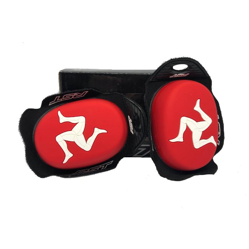 RST Flag Series Manx Red Knee Sliders
